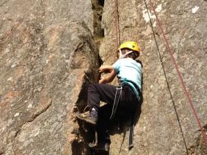 Scout climbing at Duntelchaig
