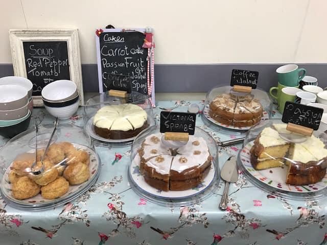 Community cafe cakes